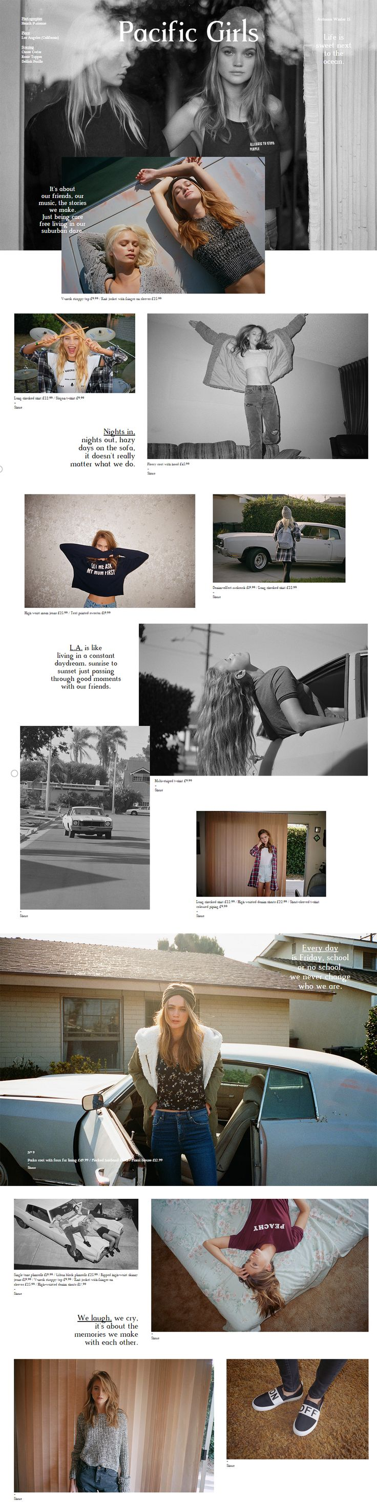PULL & BEAR - PACIFIC GIRLS LOOKBOOK  http://www.pullandbear.com/gb/en/editorial/p%26b-pacific-girls-%7C-woman -c1474011.html