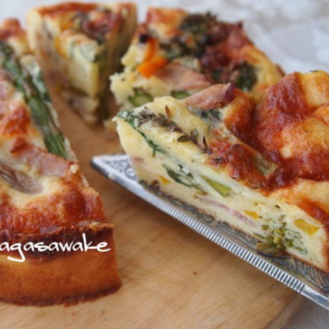 春野菜(菜の花とアスパラガス) のケークサレのレシピ