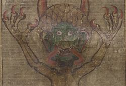 Devil illustration from the Codex Gigas at the National Library of Sweden.