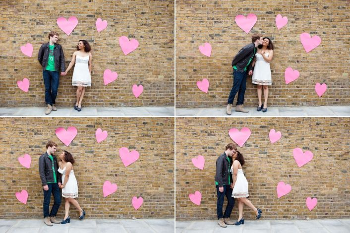 Hearts! Sweet engagement shoot idea - photos by My Heart Skipped
