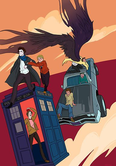 Superwholock. Everyone looks so cool and then theirs Dean and Sam...