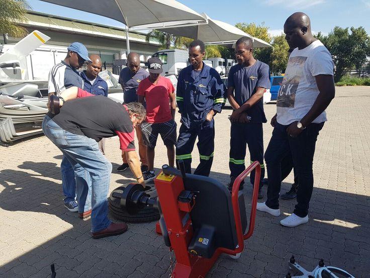 Goodyear Staff getting wheel balancing training