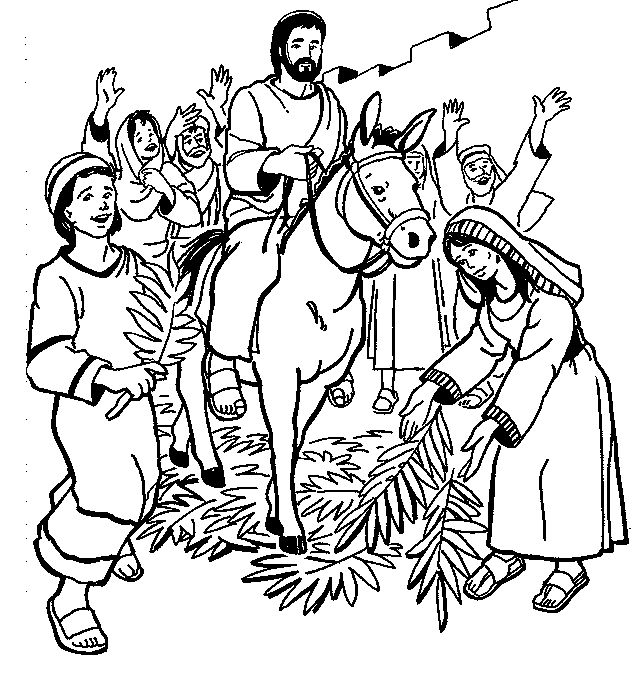 Jesus Entering At Jerusalem Coloring Page