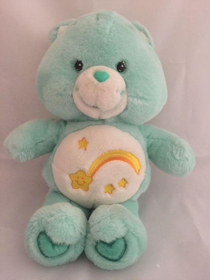 "Care Bears Talking Wish Bear 13"" Plush Doll Stuffed Animal Green Shooting Star #CareBears #AllOccasion"