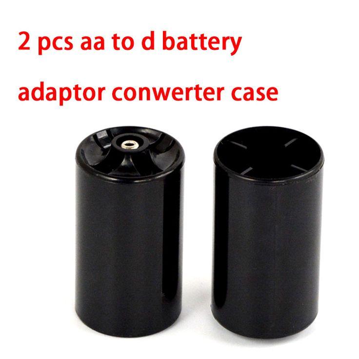 1 Unids Tipo LR20 Batería Convertidor Adaptador 2A AA a D Tamaño de la Caja Negro