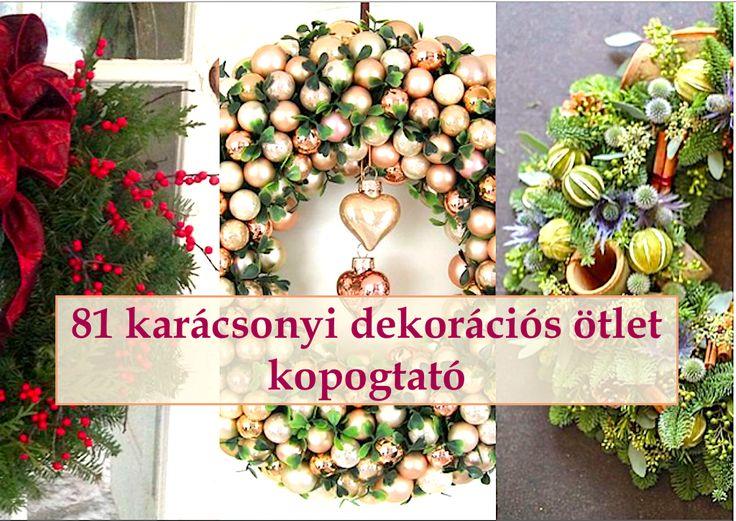 81 karácsonyi dekorációs ötlet – kopogtató