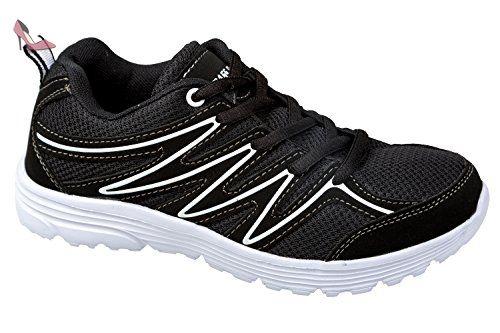 gibra , Baskets pour femme - noir - Schwarz/Weiß, - Chaussures gibra (*Partner-Link)