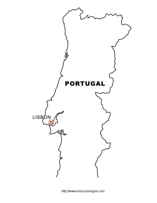 Dessinportugal coloriage pays et regions cartes des pays colorier allofamille europe - Dessin drapeau portugal ...