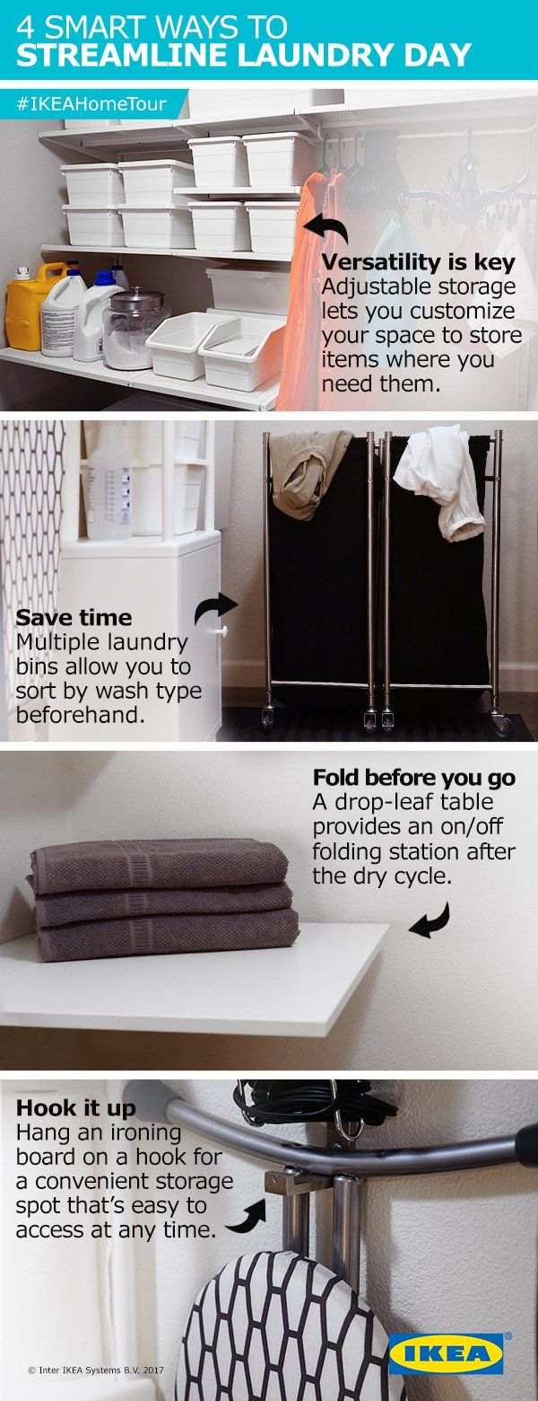 Streamline Your Laundry Process With 4 Tips From The IKEA Home Tour Squad Adjustable Storage That Lets You Customize Space Multiple Bins To