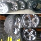 Mercedes Benz CLS Rims Chrome Stock Set, Pirelli tires & Falken Tires cls500 - &amp, BENZ, CHROME, cls500, Falken, MERCEDES, PIRELLI, rims, STOCK, TIRES