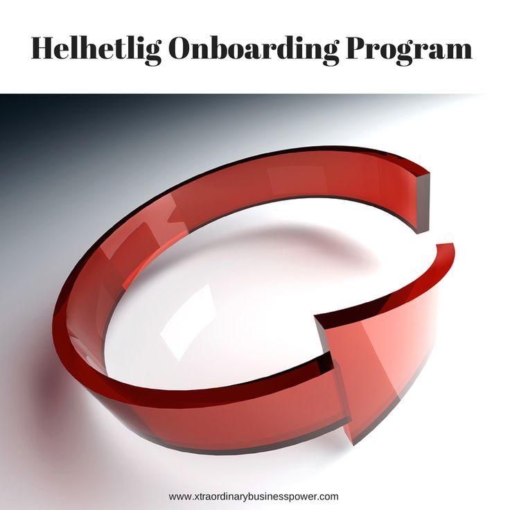 Et Onboarding program - er en helhetlig måte å ta i mot og ta vare på nyansatte.  Onboarding er en strategisk prosess designet for å tiltrekke og engasjere nye medarbeidere, bekrefte deres avgjørelse om å skifte jobb var riktig, få den nyansatte fort inn i bedriftens kultur og det sosiale liv og trene de nyansatte til å b