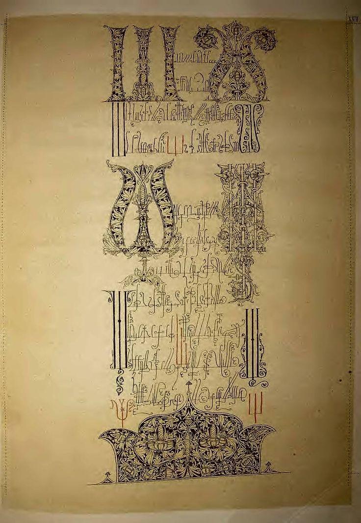 Russian Alphabeth 17century. Азбучный свиток 17 века.