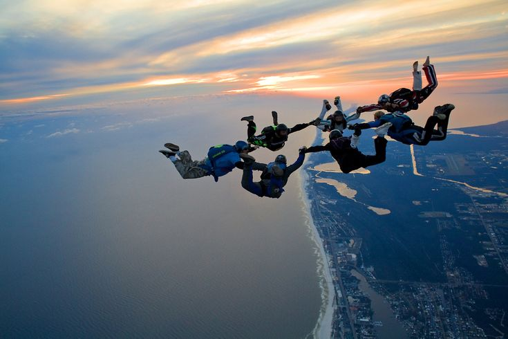 Skydiving - Sunset Beach, Emerald Coast of Lower Alabama, USA