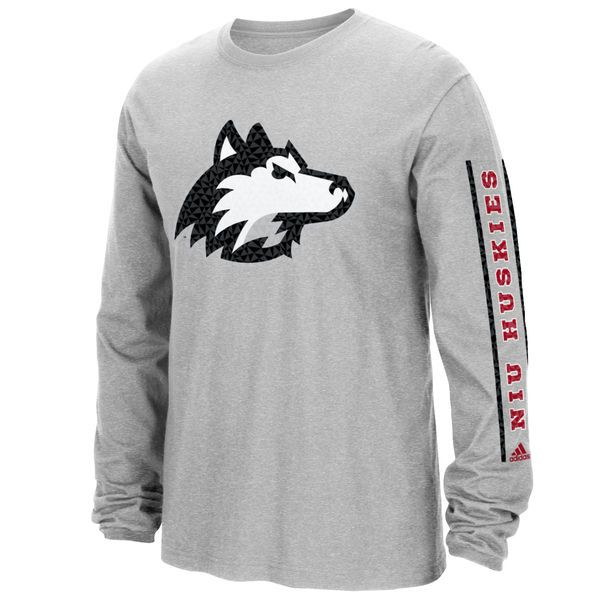 Northern Illinois Huskies adidas Play Long Sleeve T-Shirt - Gray