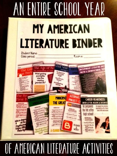 An entire year of American Literature activities in a binder format for students!! Tons of hands on, interactive activities that will keep students thinking critically! $