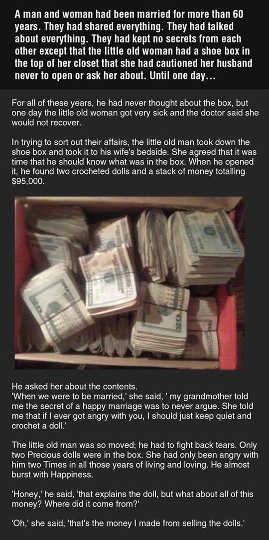 Husband Finds Wife's Secret Money