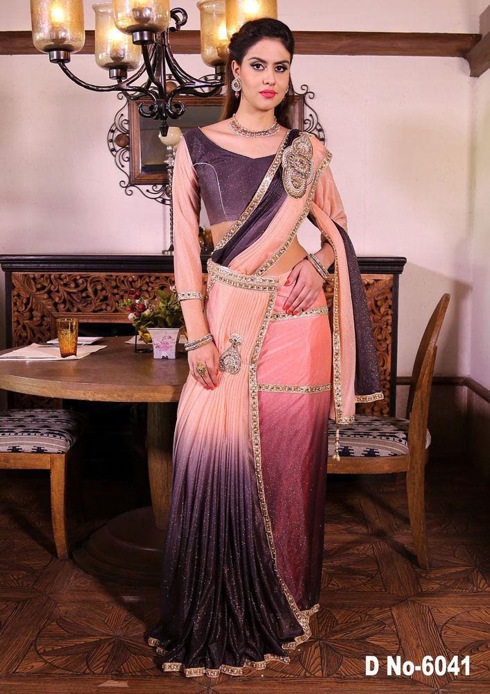 Indian saree blouse bollywood designer ethnic wedding wear latest bridal saris  #Handmade #saree