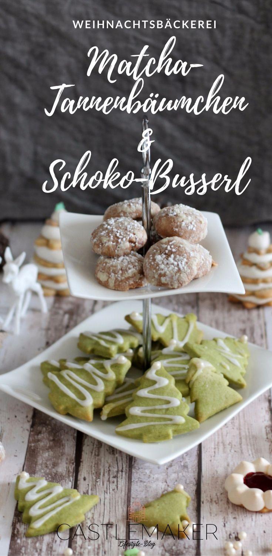 In der Weihnachtsbäckerei....gibt es viele leckere Plätzchen Rezepte so wie die Matcha Tannenbäumchen und die Schoko-Busserl. Beide Rezepte haben das gleiche Grundrezept Mürbeteig und gelingen einfach. Wie es geht, zeige ich Euch auf meinem Blog. #plätzchen #weihnachten #rezepte