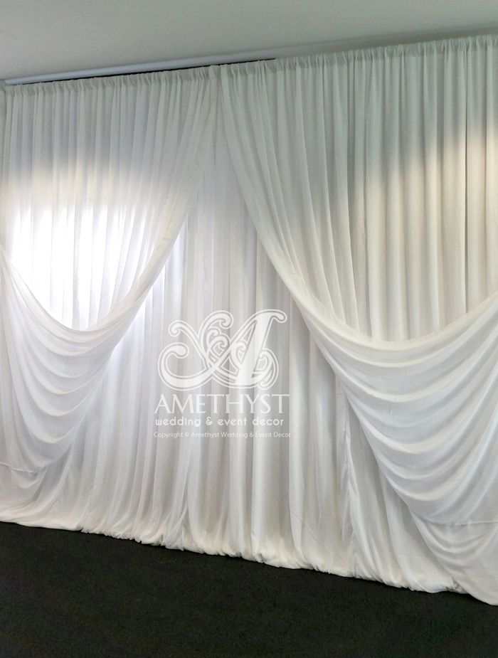 25 best images about wedding backdrops drapes on for Background curtain decoration