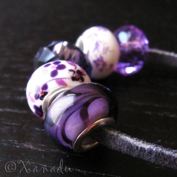 lavender troll beads