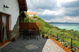 Terrace of our house, Tihany