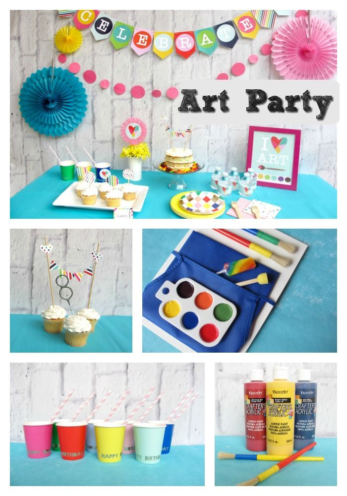 Complete Artist Party Pack- I Heart Art! Create a colorful celebration with our Artist Party. Whether you have pint size Picasso or a tweenage muralists this artful party pack provides all the tools you need to create a masterpiece. Our complete party includes colorful décor, perfectly curated tabletop, and creative favors that are sure to inspire an unforgettable celebration. Brush off some time and let Bitty Bash paint the perfect picture! www.bittybashco.com