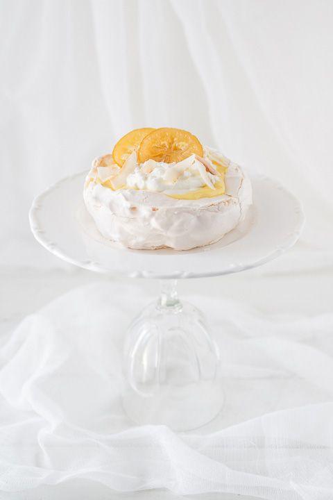 Lemon Coconut Pavlovas