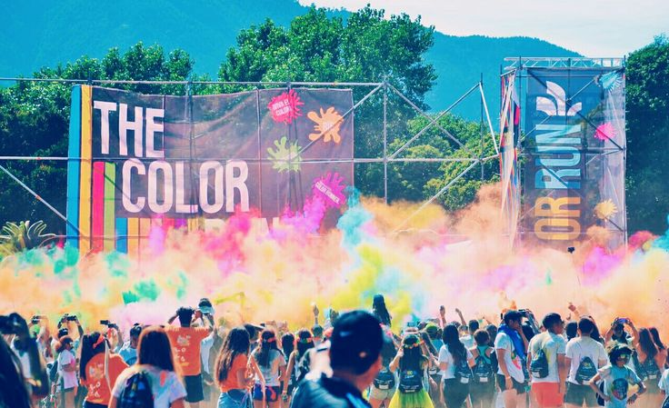 The color run colors explosion