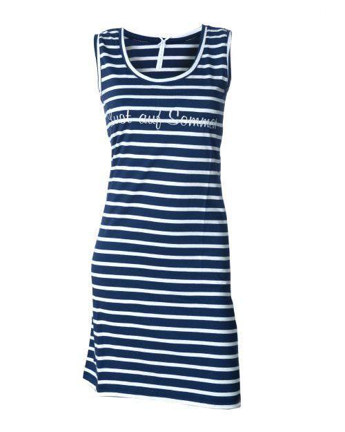 """Dieses schöne Nachthemd von Louis und Louisa ist perfekt für den Sommer. Nicht nur wegen des gestickten Schriftzuges """"Lust auf Sommer"""" sondern auch wegen der leichten Baumwolle. Super angenehm zu tragen. Blau/Weiß gestreift ein echter Klassiker.  Maschinenwaschbar bei 30°  Louis und Louisa ist ein Trendlabel in Sachen Nachtwäsche, Shirts und Unterwäsche. Das Unternehmen legt stets großen Wert auf weiche Qualitäten in welchen Sie sich rund um wohlfühlen werden."""