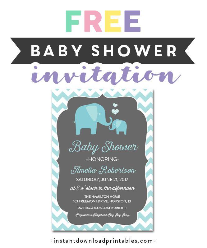 Free Printable Editable Pdf Baby Shower Invitation Diy Teal Gray Elephant Instant Download Edit In Adobe Reader Instant Download Printables Free Baby Shower Invitations Baby Shower Invitations Diy Baby Shower Invitations