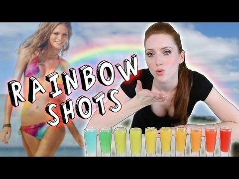 In this tutorial we show you how to make the most amazing Rainbow Shots!  Youtube's #1 bartending show, Tipsy Bartender, shows you how to make these awesome shots. Rainbow Shots always liven up any party!  When you pour them it looks like a magic trick...people are mesmerized!  Pouring Rainbow Shots gives you a dazzling lineup of the colors of t...