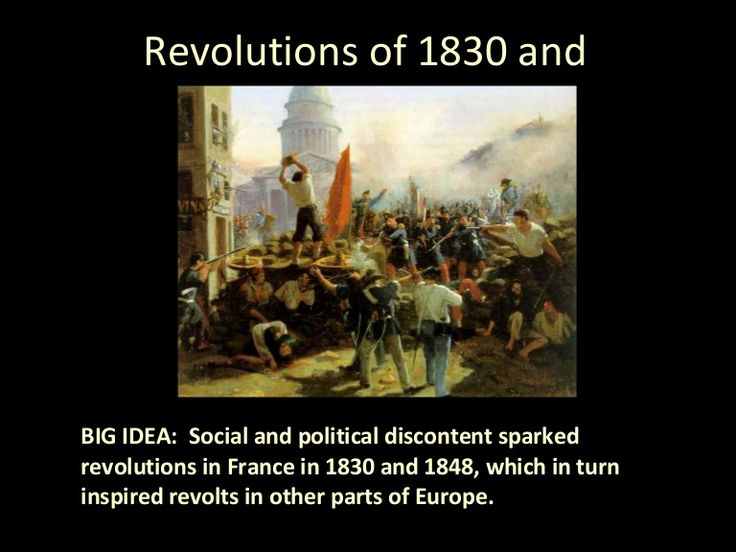 an analysis of the revolution of 1848 for france Revolutions of 1830 and 1848 big idea: social and political discontent sparked revolutions in france in 1830 and 1848, which in turn inspired revolts in other.