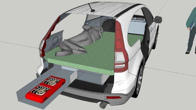 Honda Cr V Camper 3d Warehouse Honda Crv Honda Car Camper