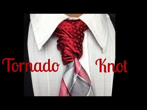 24 best tutorial tie knots images on pinterest tie knots the tornado knot how to tie a tie youtube ccuart Image collections
