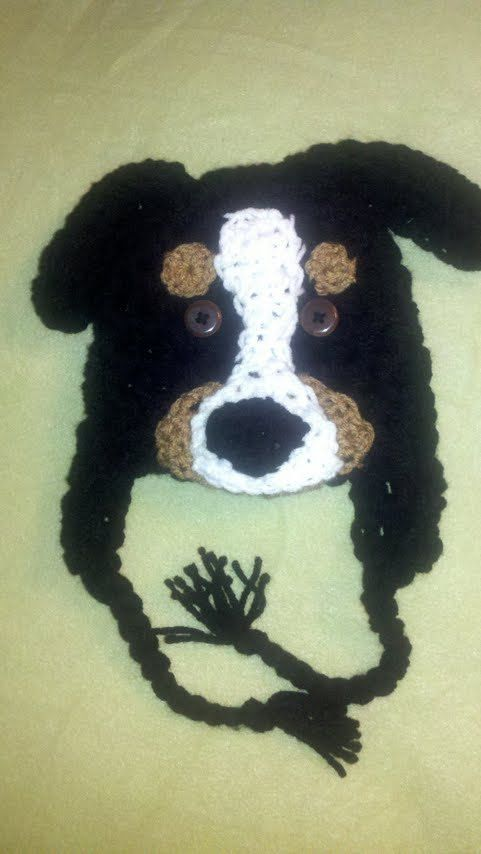 Bernese Mountain Dog Puppy Earflap Hat and by BellaMariesboutique