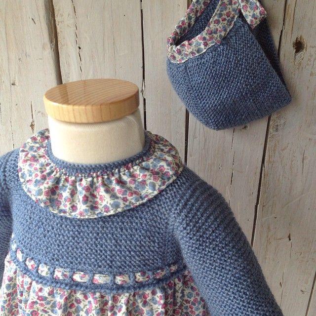 Vestido de Cayetana #pelotedelainebb #hechoamano #handmade #fashionbebes #bebes