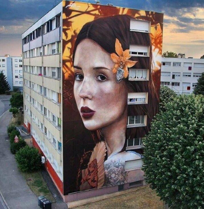Street Art by Mantra, located in Longwy, France