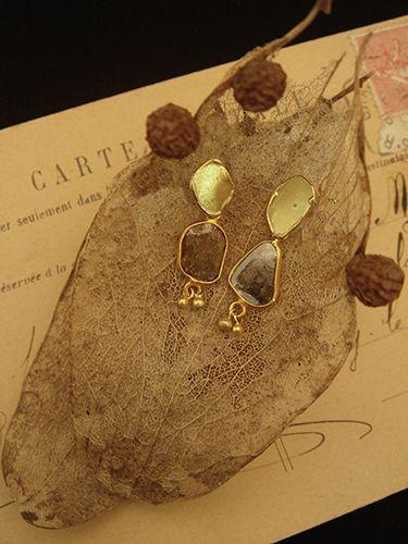 [Slice Cut Diamond Collection : 009] Pierces-K18YG/Diamond