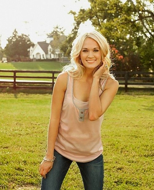Carrie Underwood is my role model. She's so pretty and she has so much self…
