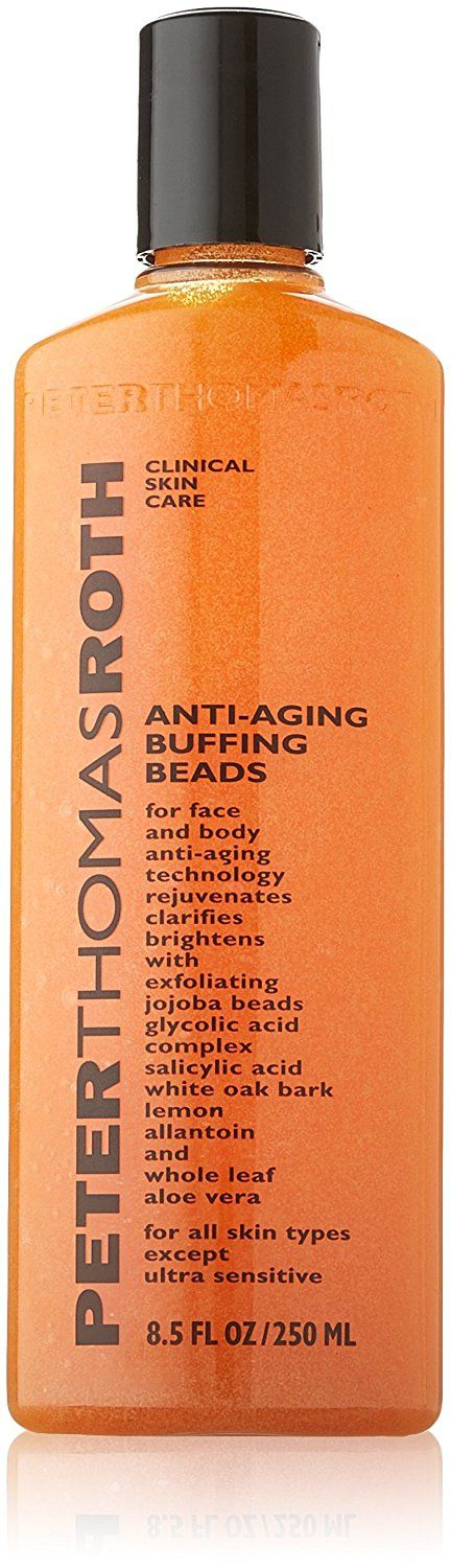 Peter Thomas Roth Anti-Aging Buffing Beads Scrub for Unisex, 8.5 Ounce * Startling review available here  : Face Exfoliators, Polishes and Scrubs