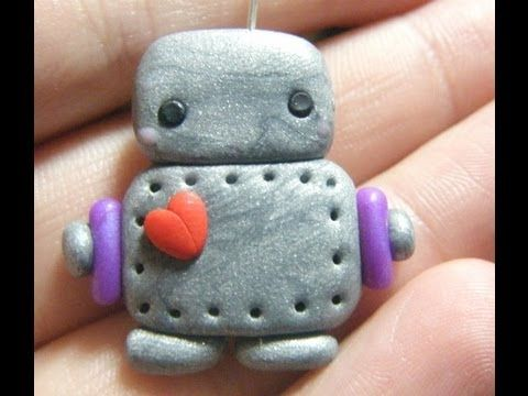 Polymer Clay Robot Tutorial by funkypinkgal on YouTube