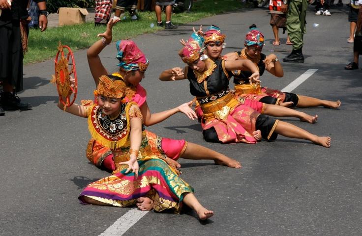 Ogoh Ogoh celebration in Pemuteran Bali
