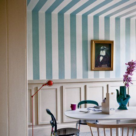 Stripes to ceiling