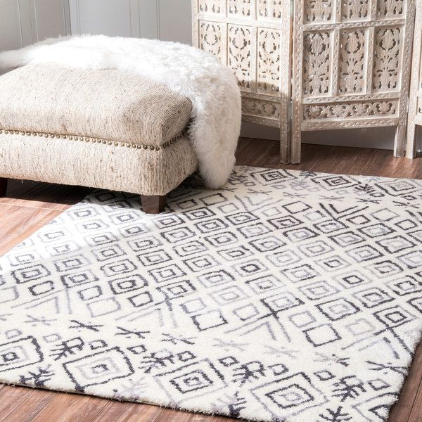 NuLOOM Handmade Moroccan Diamond Grey Shag Rug (7u00276 X 9u00276) By Nuloom. Outlet  StoreGreat ...
