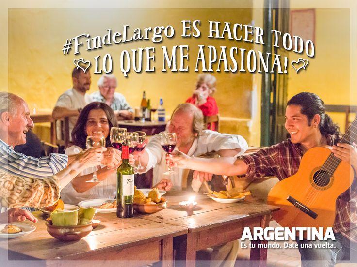 #FindeLargoEs... ¡Hacer todo lo que me apasiona!  #ArgentinaEsTuMundo #Argentina #viajar #viajes #turismo #turista #travel #maleta #experiencias #pasion #finde #escapada #vacaciones #destino