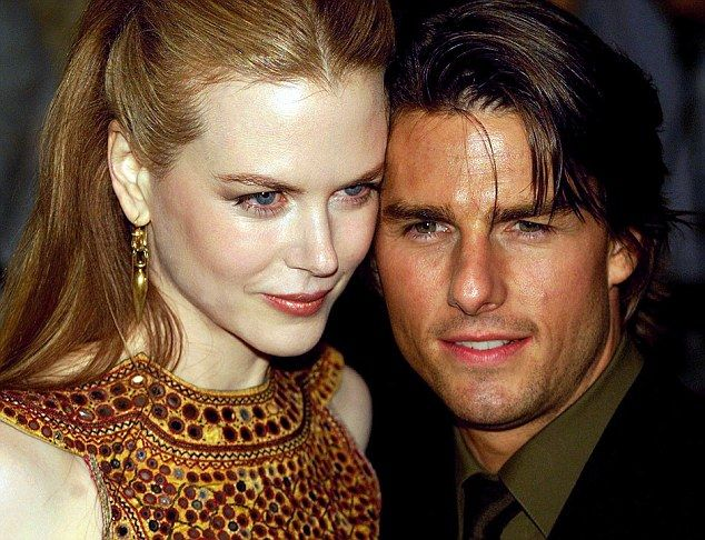 The way they were: Tom Cruise and ex-wife Nicole Kidman at the UK premiere of Stanley Kubrick's Eyes Wide Shut in September 1999.