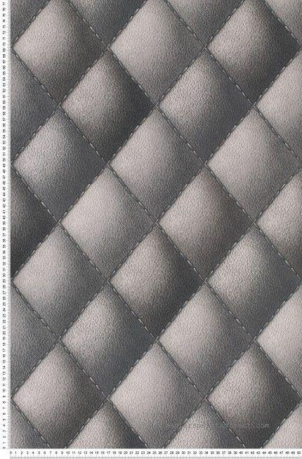 Couture et cuir gris - Papier peint Illusion 2 de Montecolino #leather #grey #wallpaper http://www.papierspeintsdirect.com/papier-peint.html
