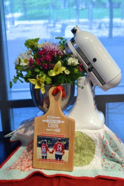 Kitchen shower floral arrangements2