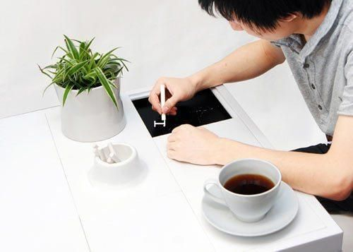 Coffee table with hidden slate | HomCozy