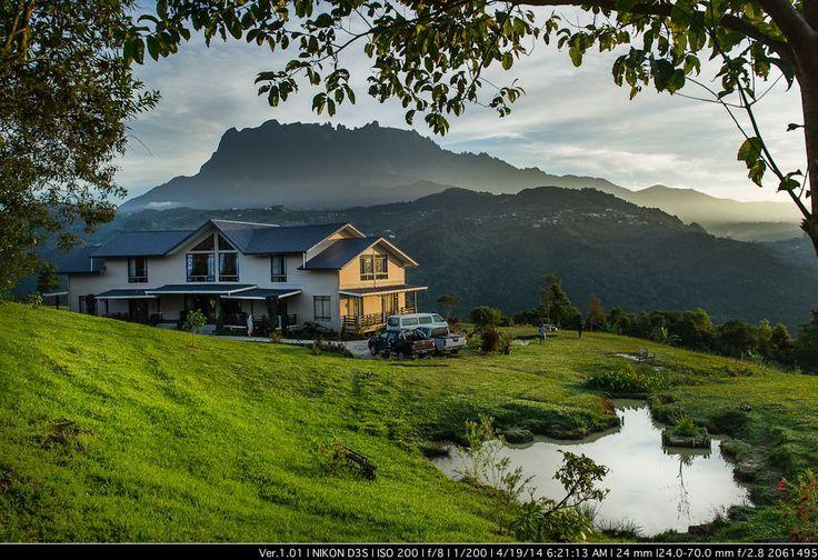 House near Mt Kinabalu Malaysian Borneo at Hounon Ridge